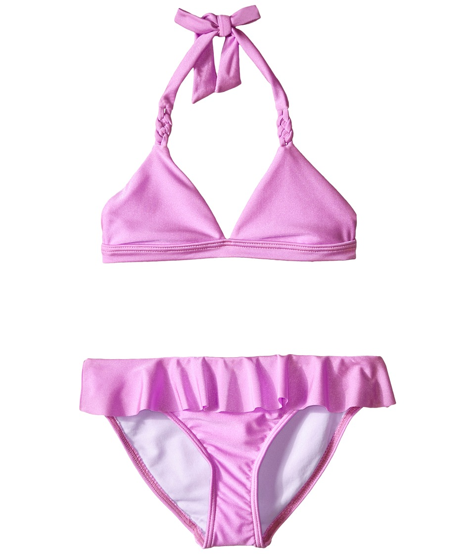 Seafolly Kids - Pool Party Triangle Bikini (Little Kids/Big Kids) (Hibiscus) Girl's Swimwear Sets