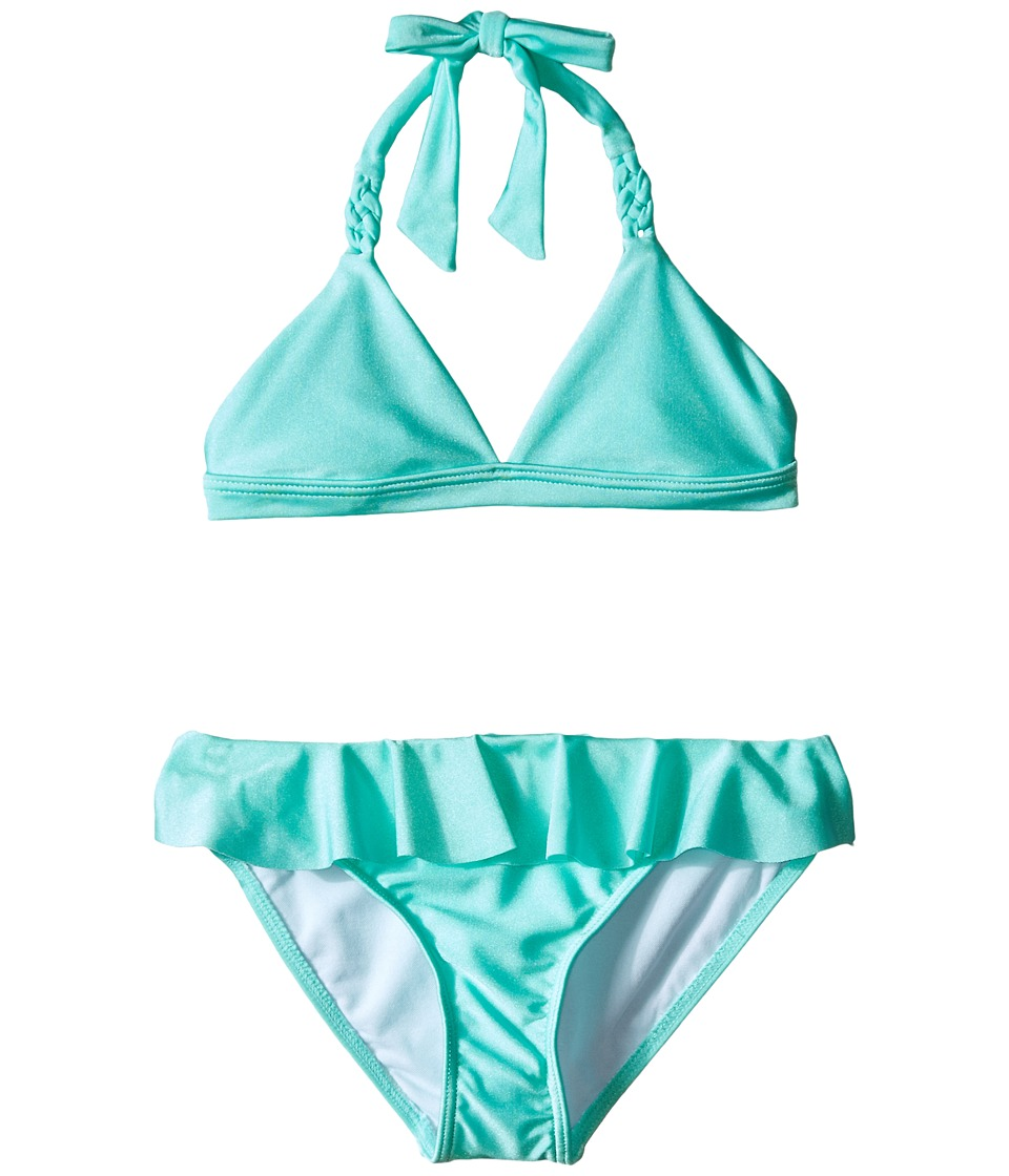 Seafolly Kids - Pool Party Triangle Bikini (Little Kids/Big Kids) (Peppermint) Girl's Swimwear Sets