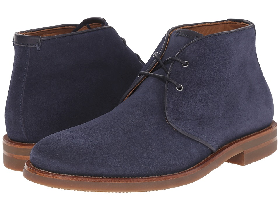 Aquatalia - Carlos (Blue Suede/Gum Bottom) Men's Lace-up Boots