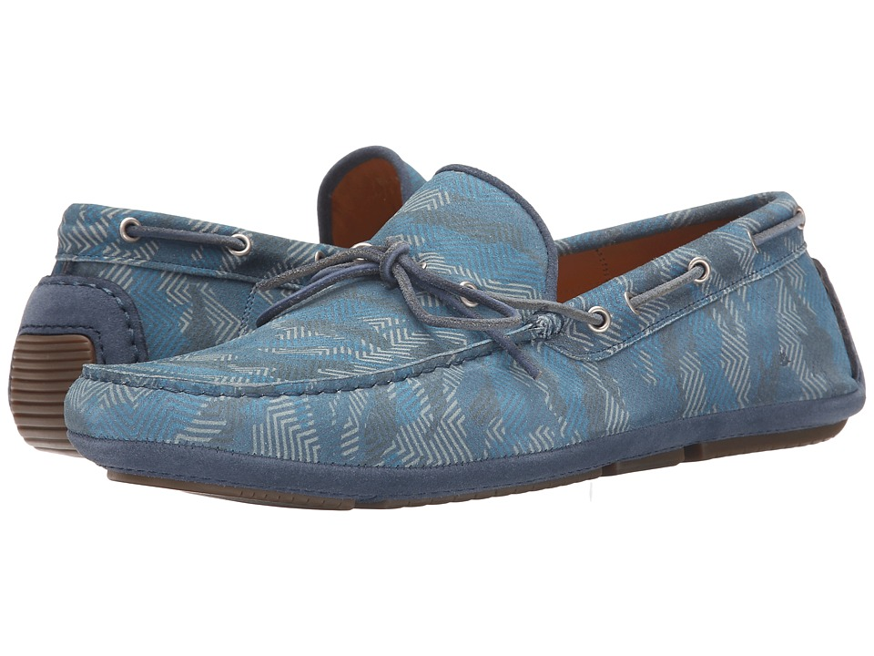 Aquatalia Blake (Denim Blue Printed Suede) Men