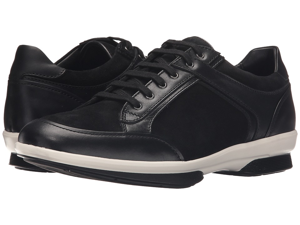 Aquatalia - Wayne (Black Leather/Suede Contrast Bottom) Men's Lace up casual Shoes