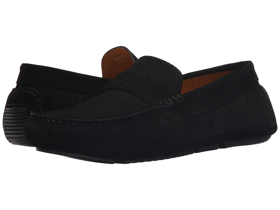 Aquatalia - Bruce (Black Woven Suede) Men's Slip on Shoes