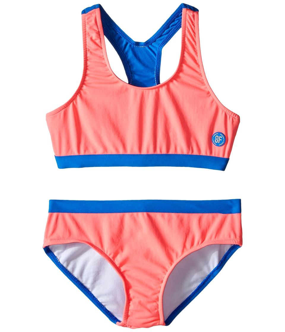 Seafolly Kids - Fun Run Racerback Tankini (Little Kids/Big Kids) (Pink Soda) Girl's Swimwear Sets
