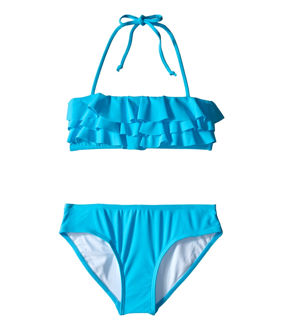 Seafolly Kids - Summer Daze Mini Tube Bikini (Little Kids/Big Kids) (Aqua) Girl's Swimwear
