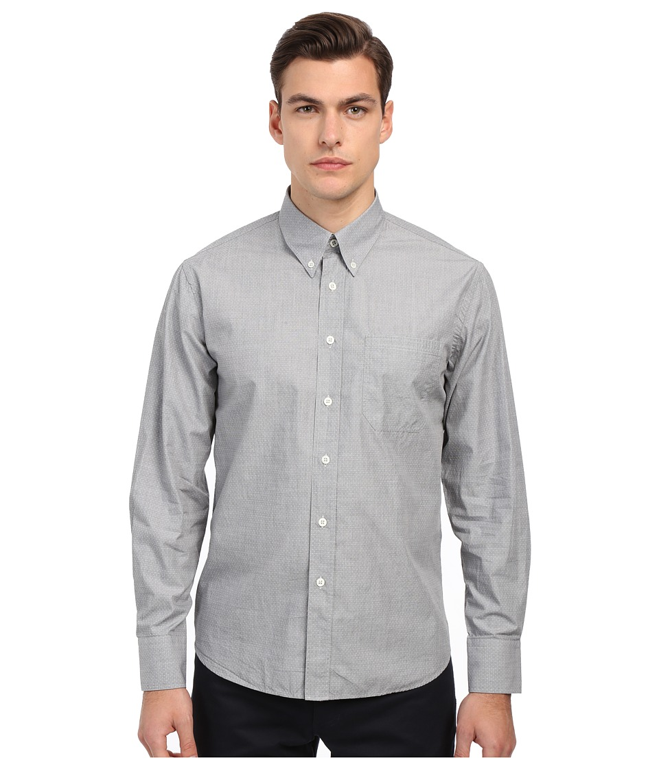 Billy Reid - Tuscumbia Shirt (Grey Dot) Men's Long Sleeve Button Up