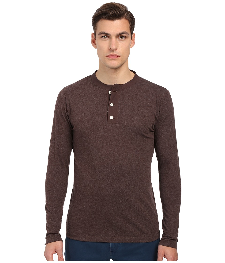 Billy Reid - Sanders Henley (Coffee) Men's T Shirt