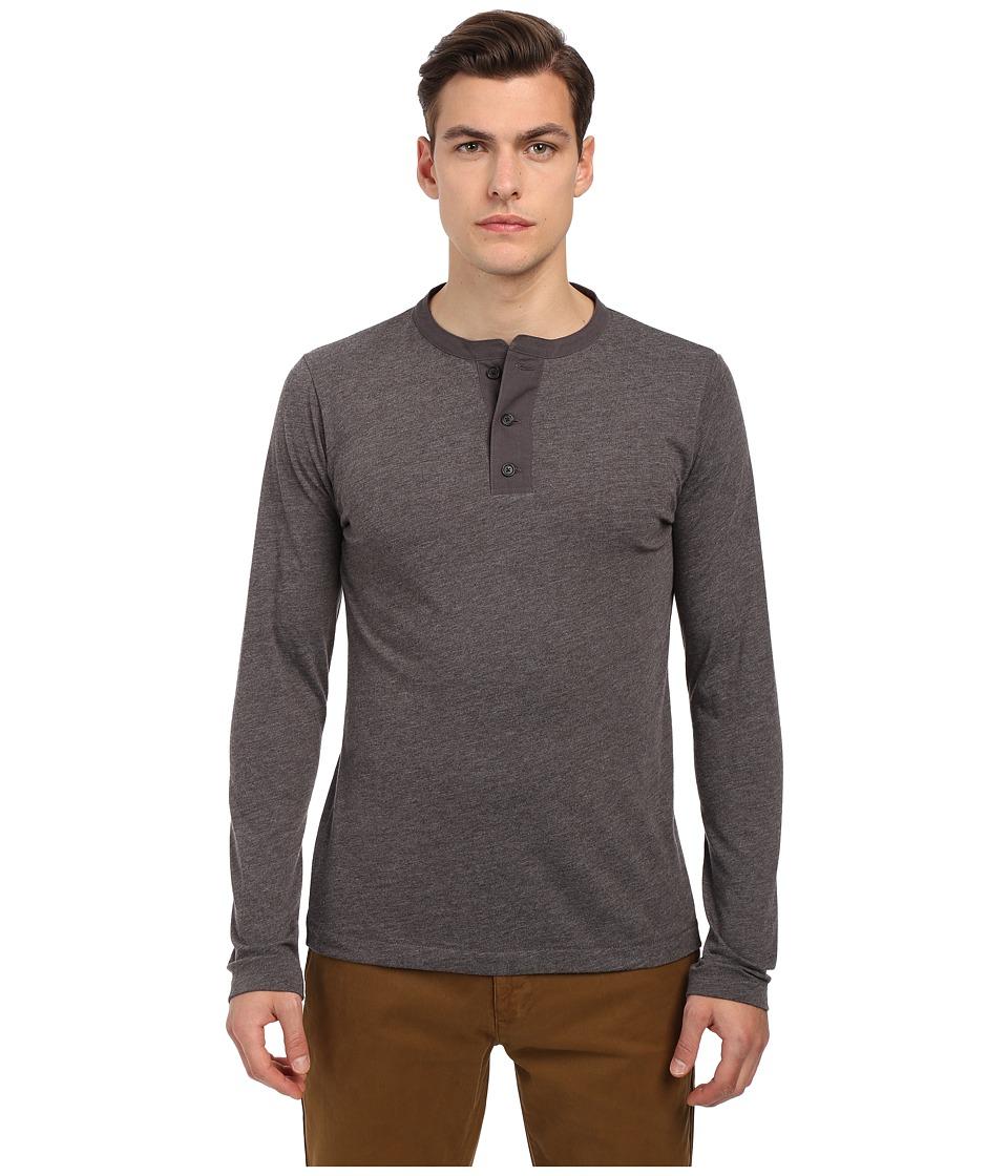 Billy Reid - Sanders Henley (Charcoal) Men's T Shirt