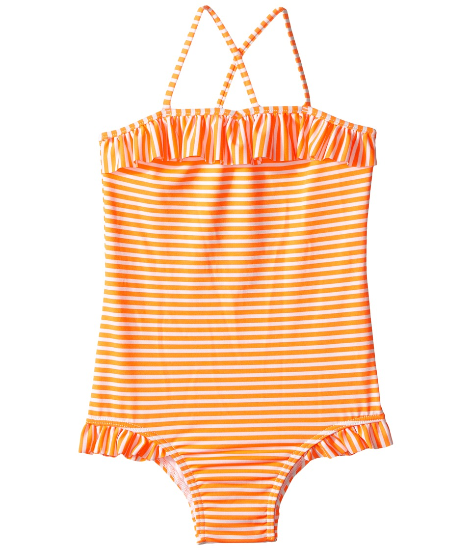 Seafolly Kids - Vintage Pop Tube Tank Top (Infant/Toddler/Little Kids) (Orange Crush) Girl's Swimsuits One Piece