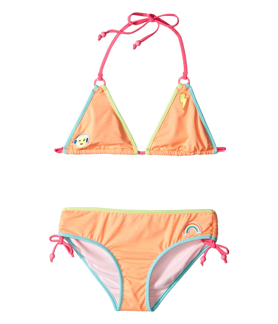 Seafolly Kids - Neon Pop Triangle Bikini (Little Kids/Big Kids) (Rockmelon) Girl's Swimwear Sets