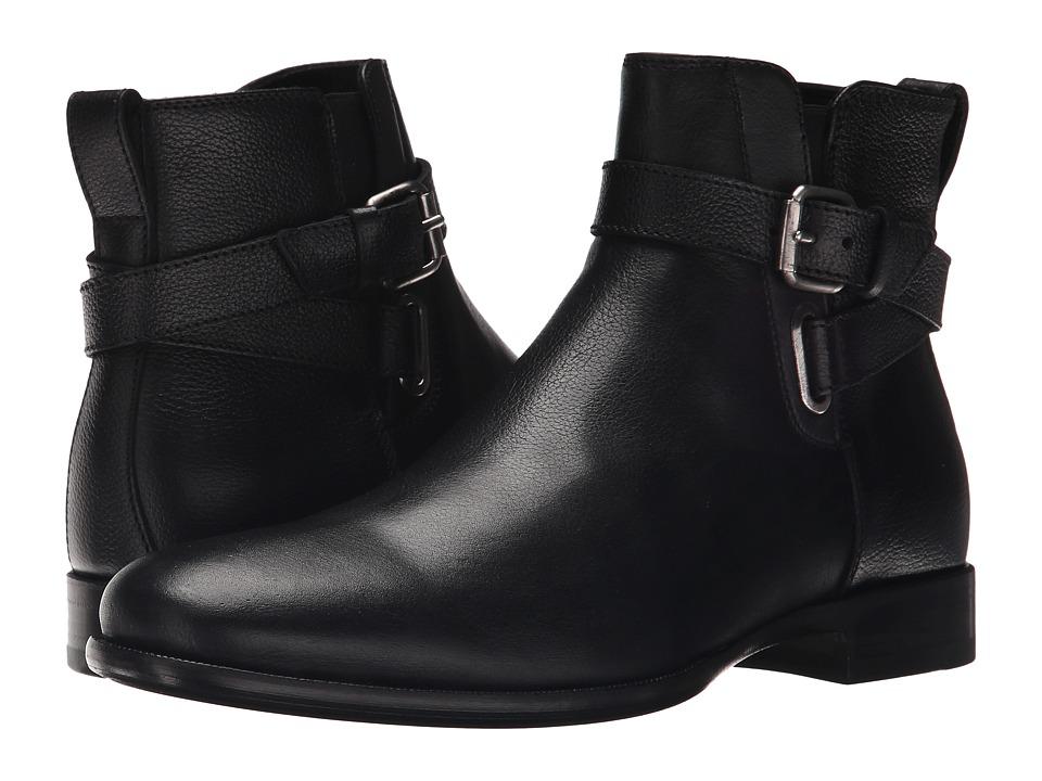 Aquatalia - Kenneth (Black Textured Calf) Men's Zip Boots