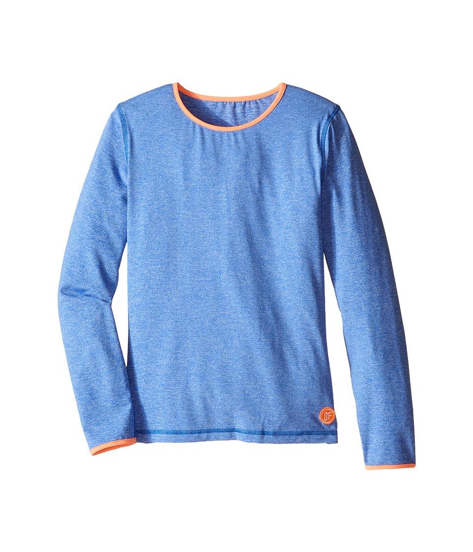 Seafolly Kids - Neon Pop Long Sleeve Rashguard (Little Kids/Big Kids) (Denim Blue) Girl's Swimwear