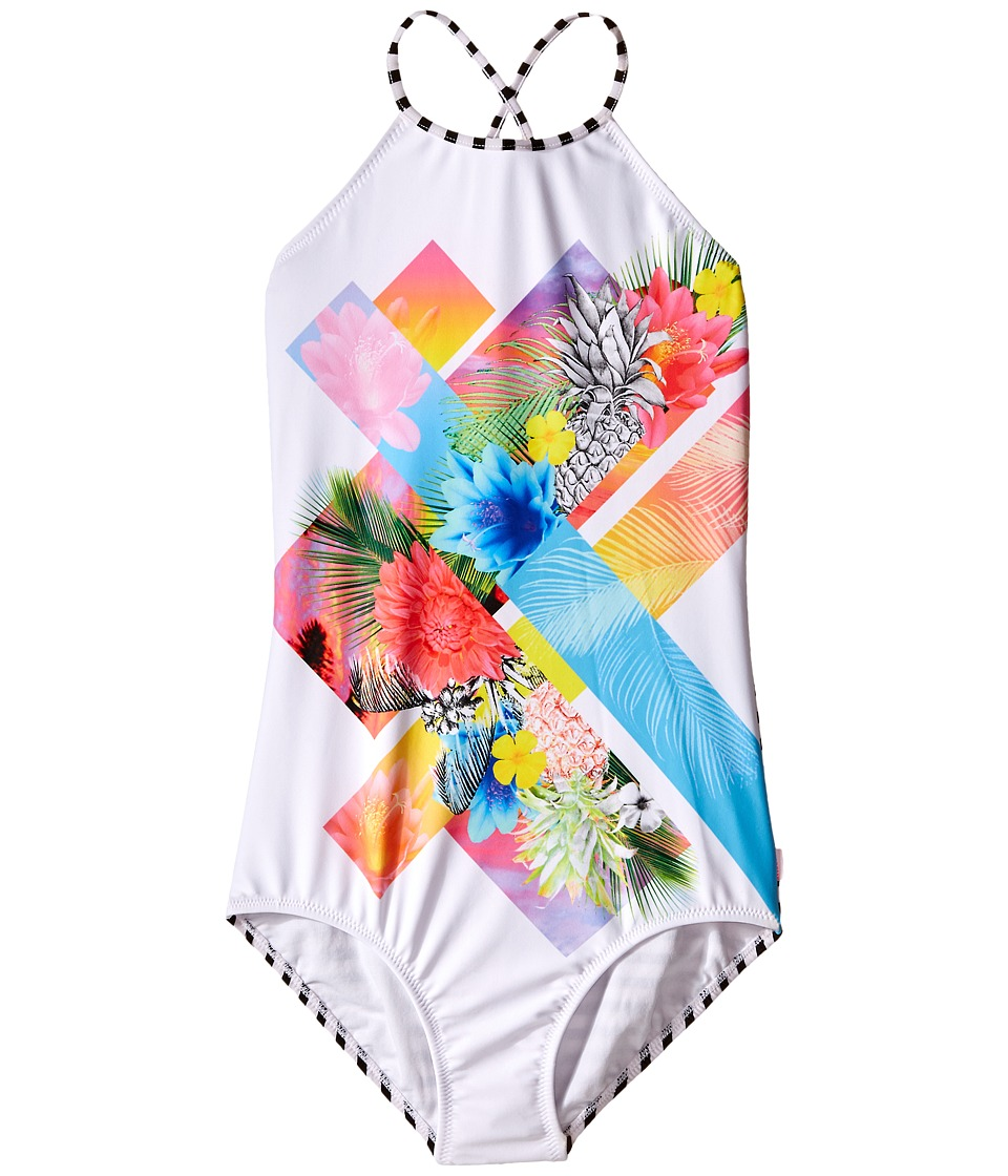 Seafolly Kids - Tropical Splice High Neck Tank Top (Little Kids/Big Kids) (Multi) Girl's Swimwear
