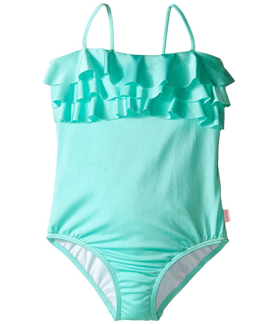 Seafolly Kids - Memphis Meow Tube Tank Top (Toddler/Little Kids) (Peppermint) Girl's Swimwear