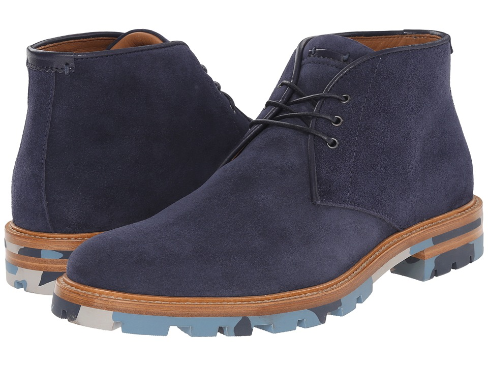 Aquatalia - Jeffrey (Navy Dress Suede) Men's Lace-up Boots