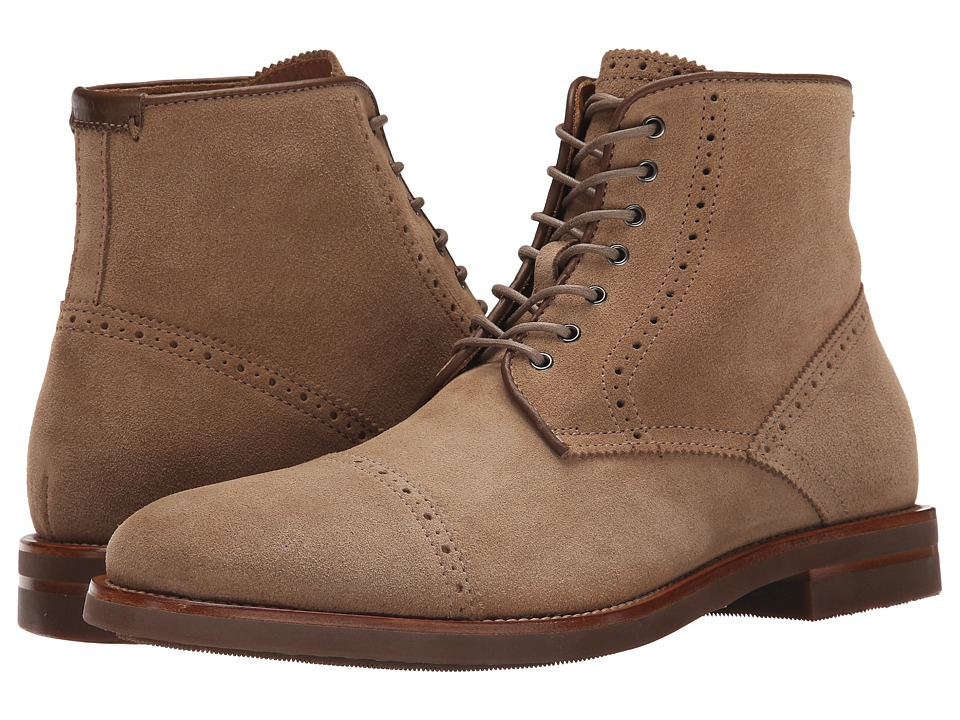 Aquatalia - Carter (Tan Dress Suede) Men's Lace-up Boots