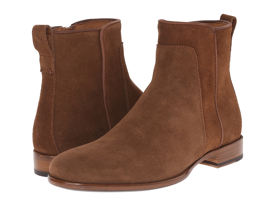 Aquatalia - Kenton (Medium Brown Dress Suede) Men's Zip Boots