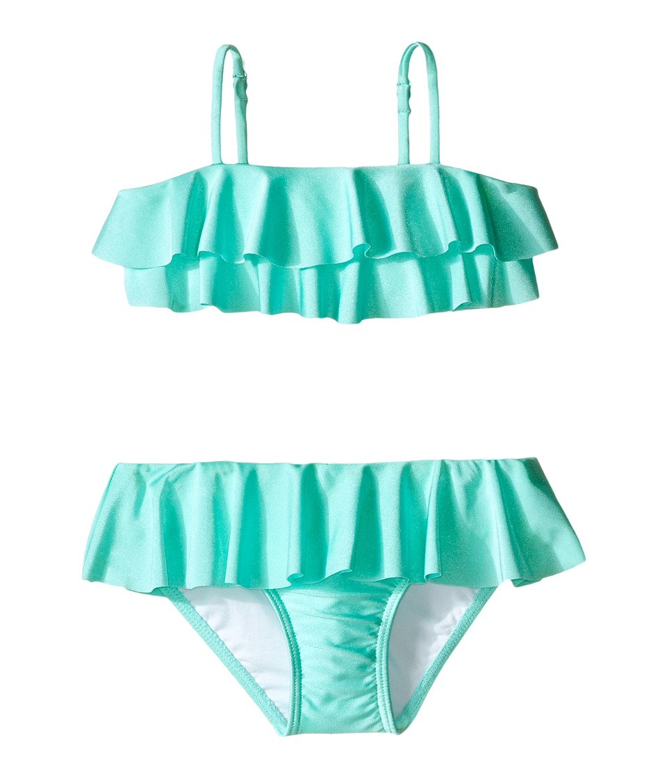Seafolly Kids - Memphis Meow Mini Tube Bikini (Toddler/Little Kids) (Peppermint) Girl's Swimwear