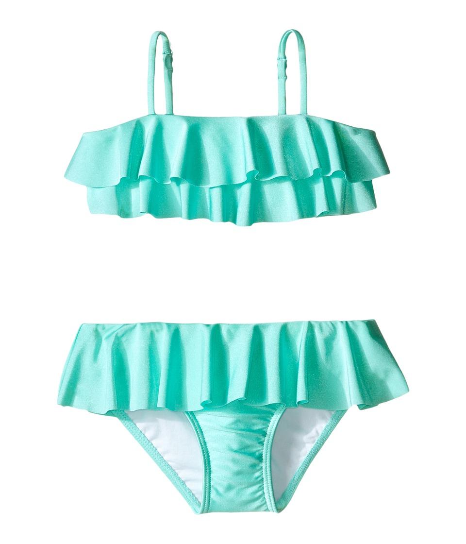 Seafolly Kids - Memphis Meow Mini Tube Bikini (Toddler/Little Kids) (Peppermint) Girl's Swimwear