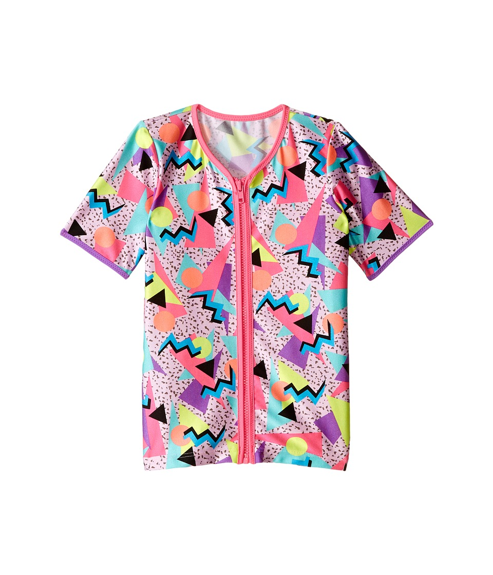 Seafolly Kids Memphis Meow Zip Front Rashguard (Toddler/Little Kids) (Multi) Girl