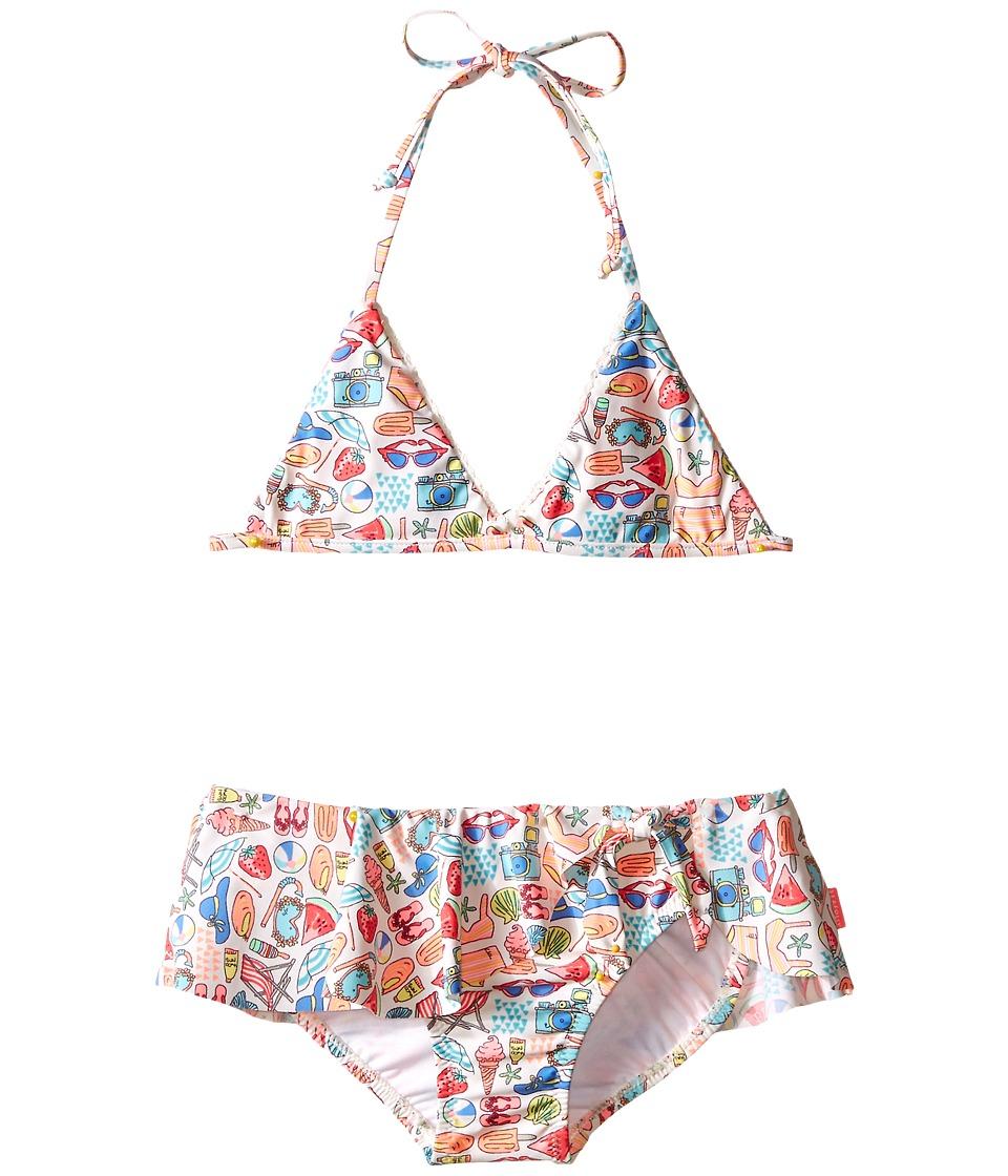 Seafolly Kids Seaside Lane Triangle Bikini (Infant/Toddler/Little Kids) (Multi) Girl