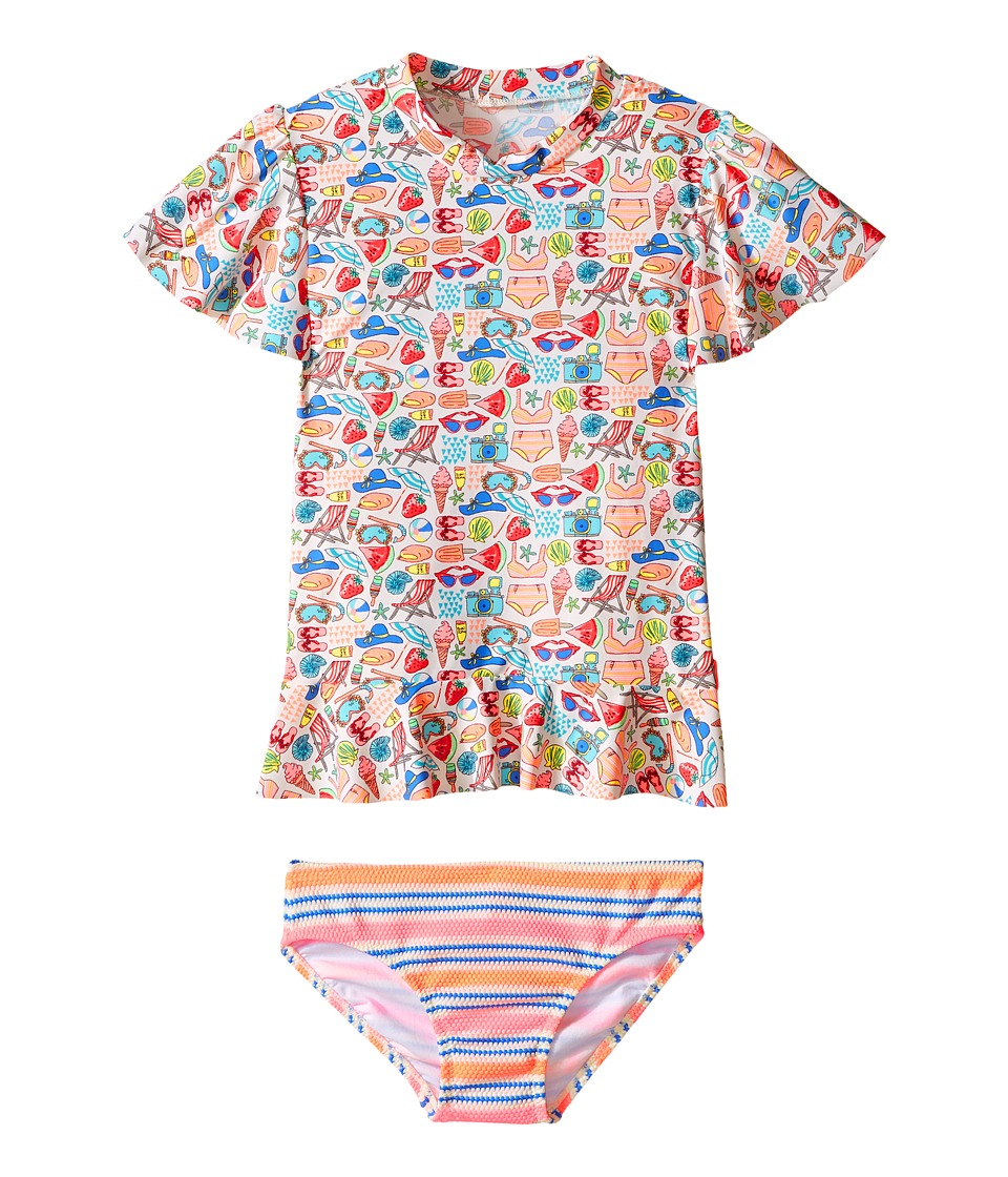 Seafolly Kids - Seaside Lane Sunvest Set (Infant/Toddler/Little Kids) (Multi) Girl's Swimwear Sets