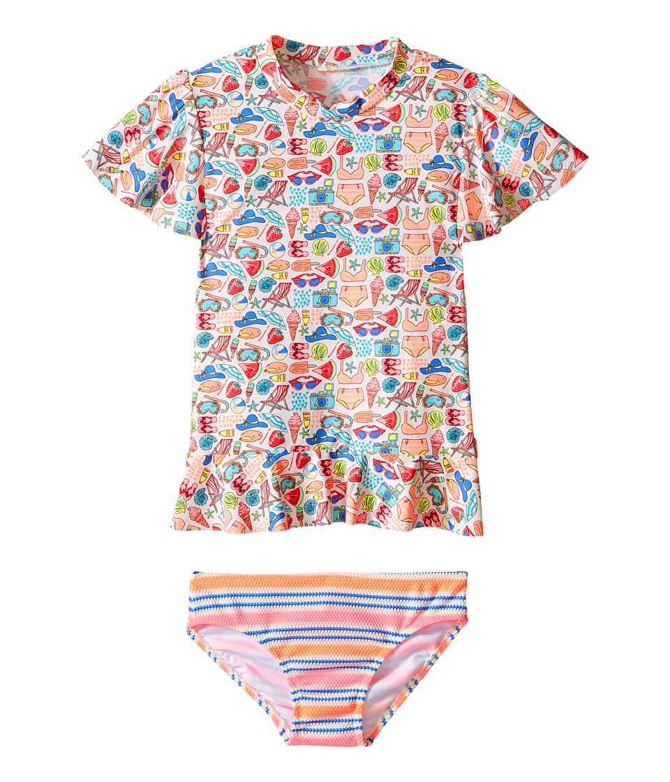 Seafolly Kids - Seaside Lane Sunvest Set (Infant/Toddler/Little Kids) (Multi) Girl's Swimwear Sets