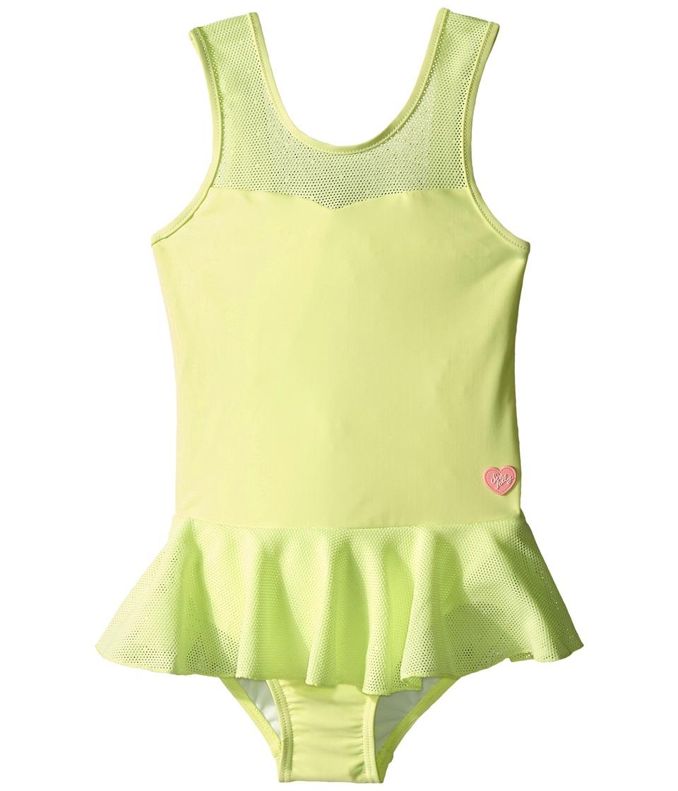 Seafolly Kids Peekaboo Peplum Tank Top (Infant/Toddler/Little Kids) (Honeydew) Girl