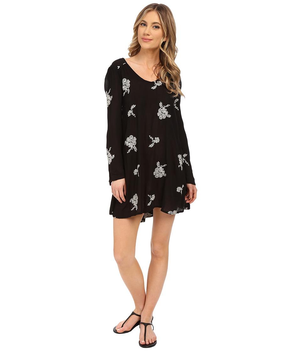 Brigitte Bailey - Emilia Long Sleeve Gauze Dress (Black) Women's Dress