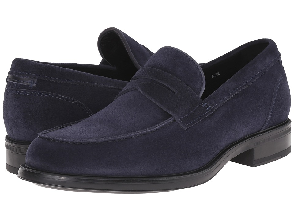 Aquatalia - Neil (Navy Dress Suede) Men's Slip on Shoes