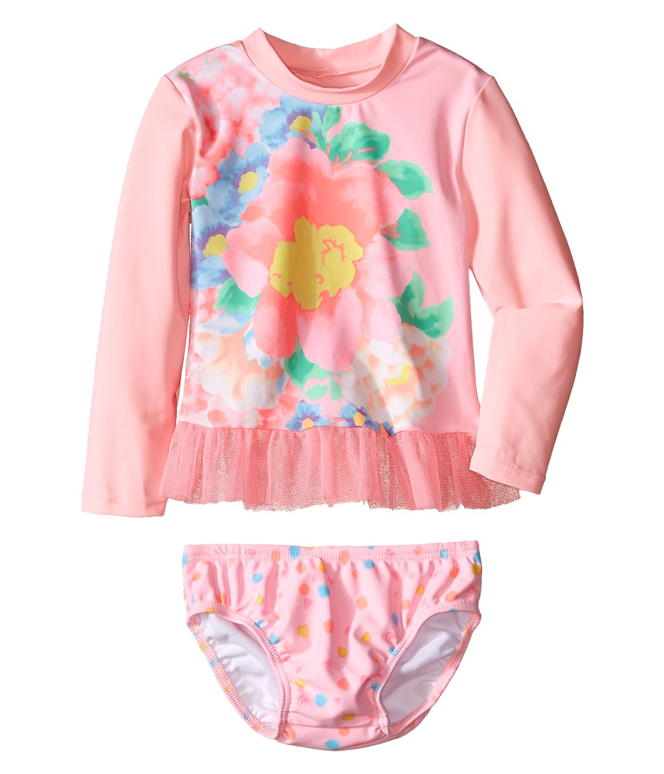 Seafolly Kids - Spring Bloom Baby Sunvest Set (Infant/Toddler) (Carnation Pink) Girl's Swimwear Sets