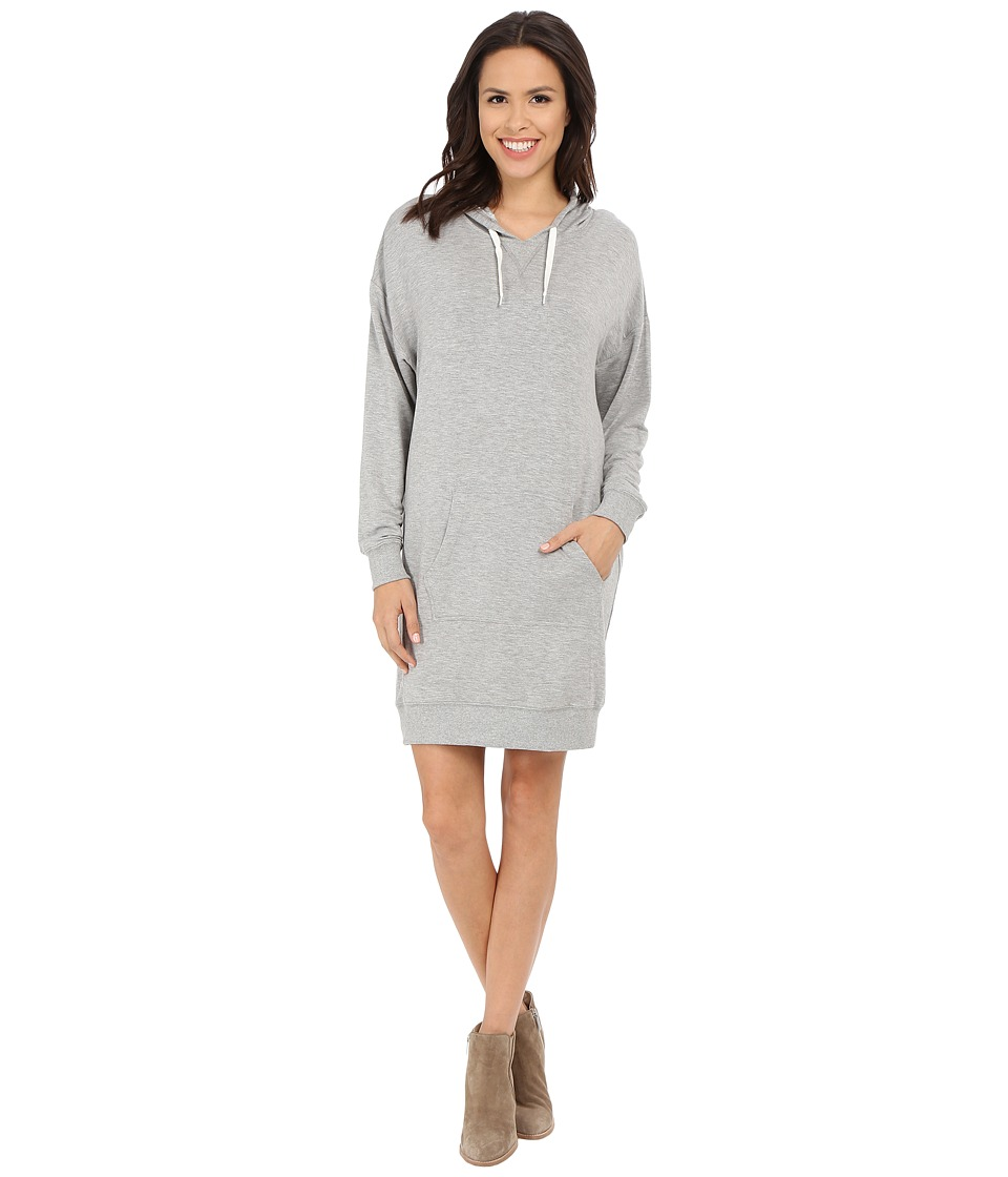 Culture Phit Eden Luxe French Terry Hoodie Dress (Heather Grey) Women