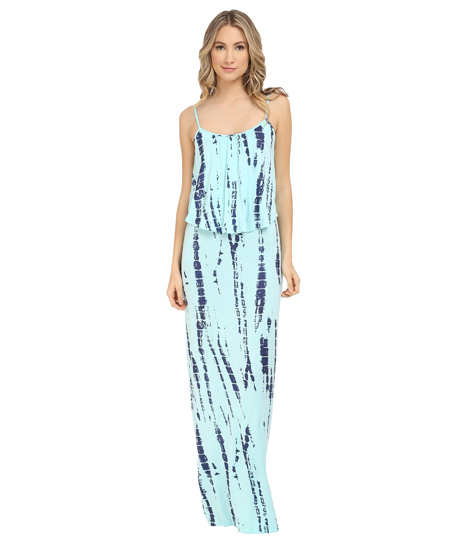 Culture Phit - Monicah Maxi Dress (Baby Blue Tie-Dye) Women's Dress