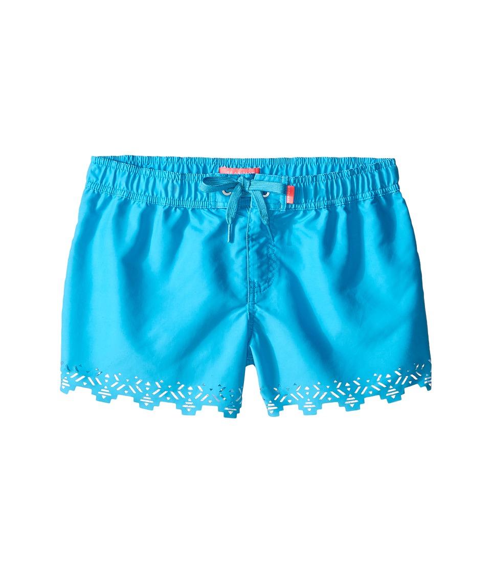 Seafolly Kids - Tropical Splice Laser Boardie (Little Kids/Big Kids) (Aqua) Girl's Swimwear