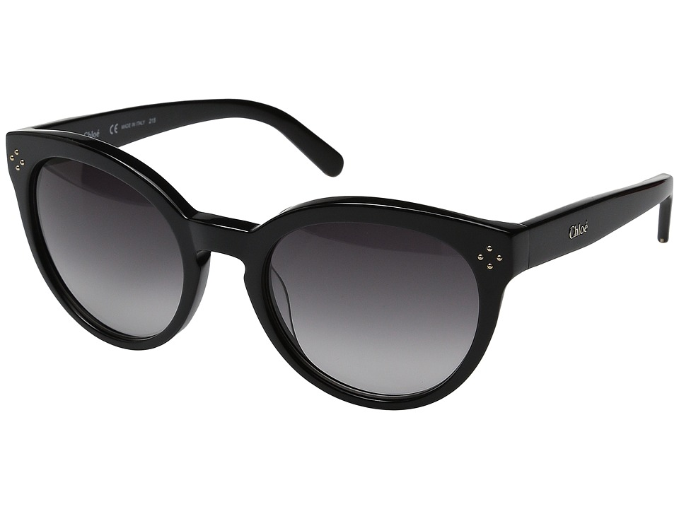 Chloe - Boxwood Round (Black) Fashion Sunglasses