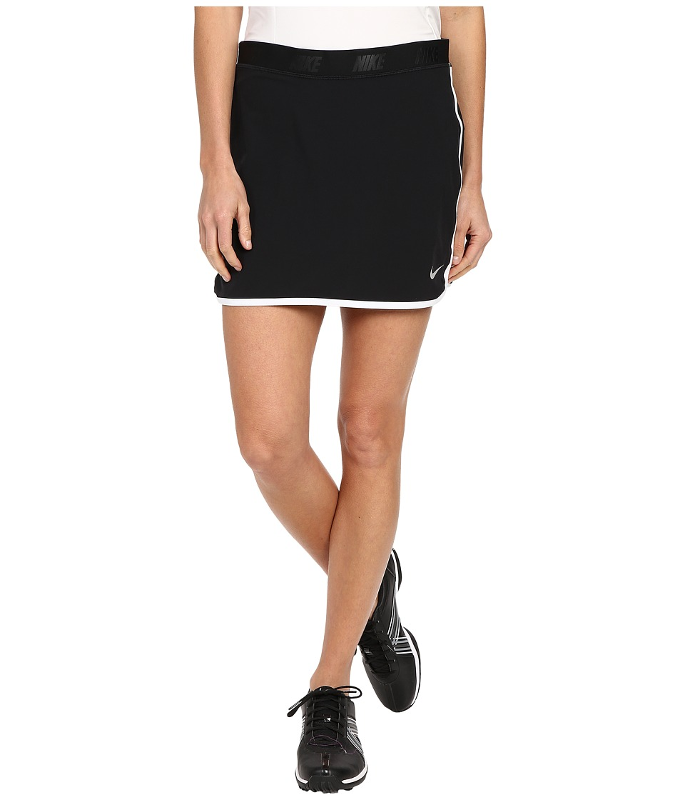 Nike Golf Fringe Flip Skort (Black/Metallic Silver) Women