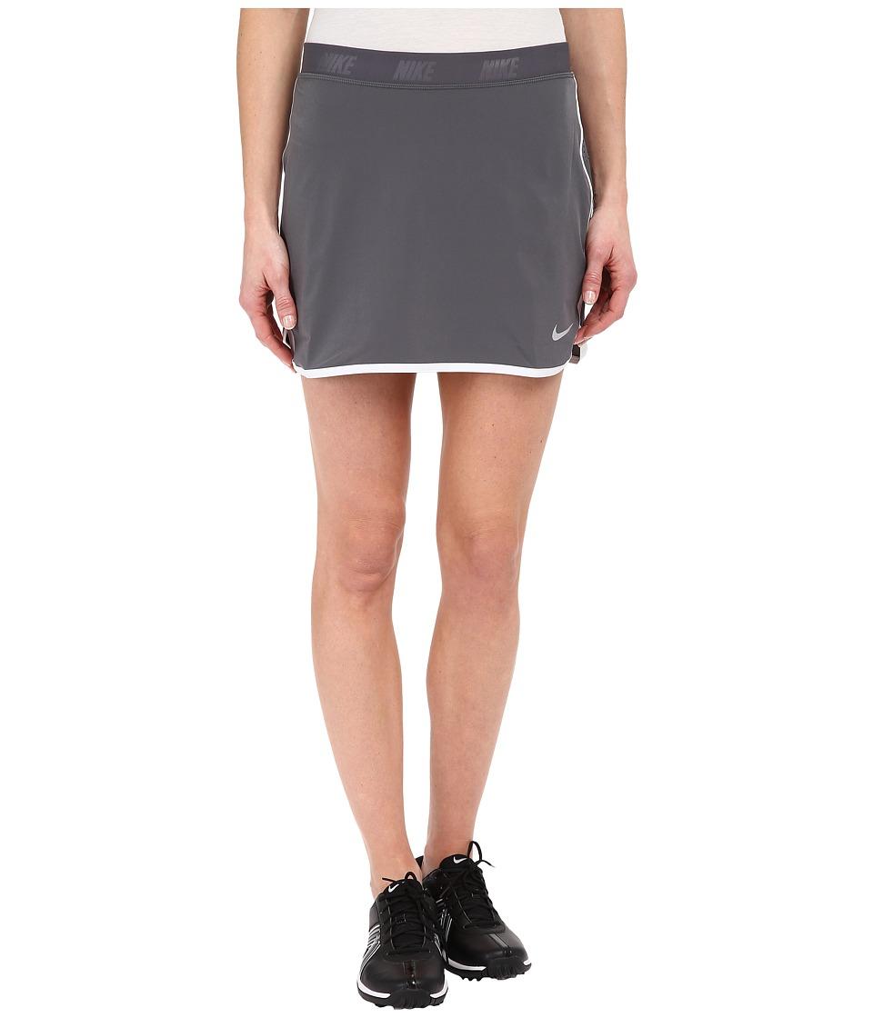 Nike Golf Fringe Flip Skort (Dark Grey/Metallic Silver) Women