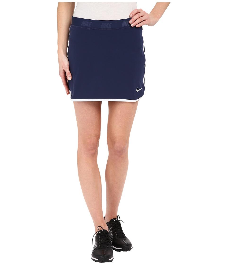 Nike Golf Fringe Flip Skort (Midnight Navy/Metallic Silver) Women