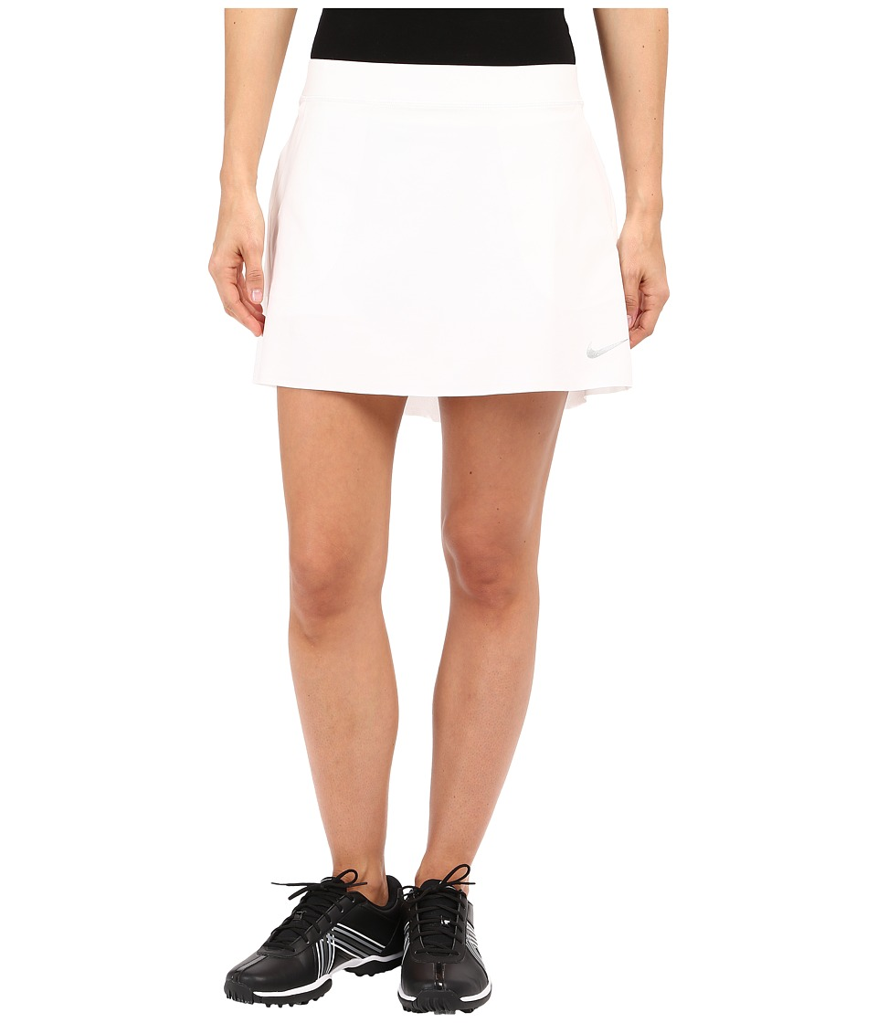 Nike  NIKE GOLF - INNOVATION LINKS WOVEN SKORT (WHITE/METALLIC SILVER) WOMEN'S SKORT