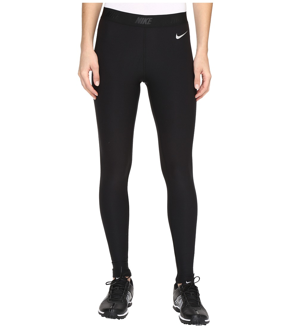 Nike Golf - Tights (Black/Black/Metallic Silver) Women's Casual Pants