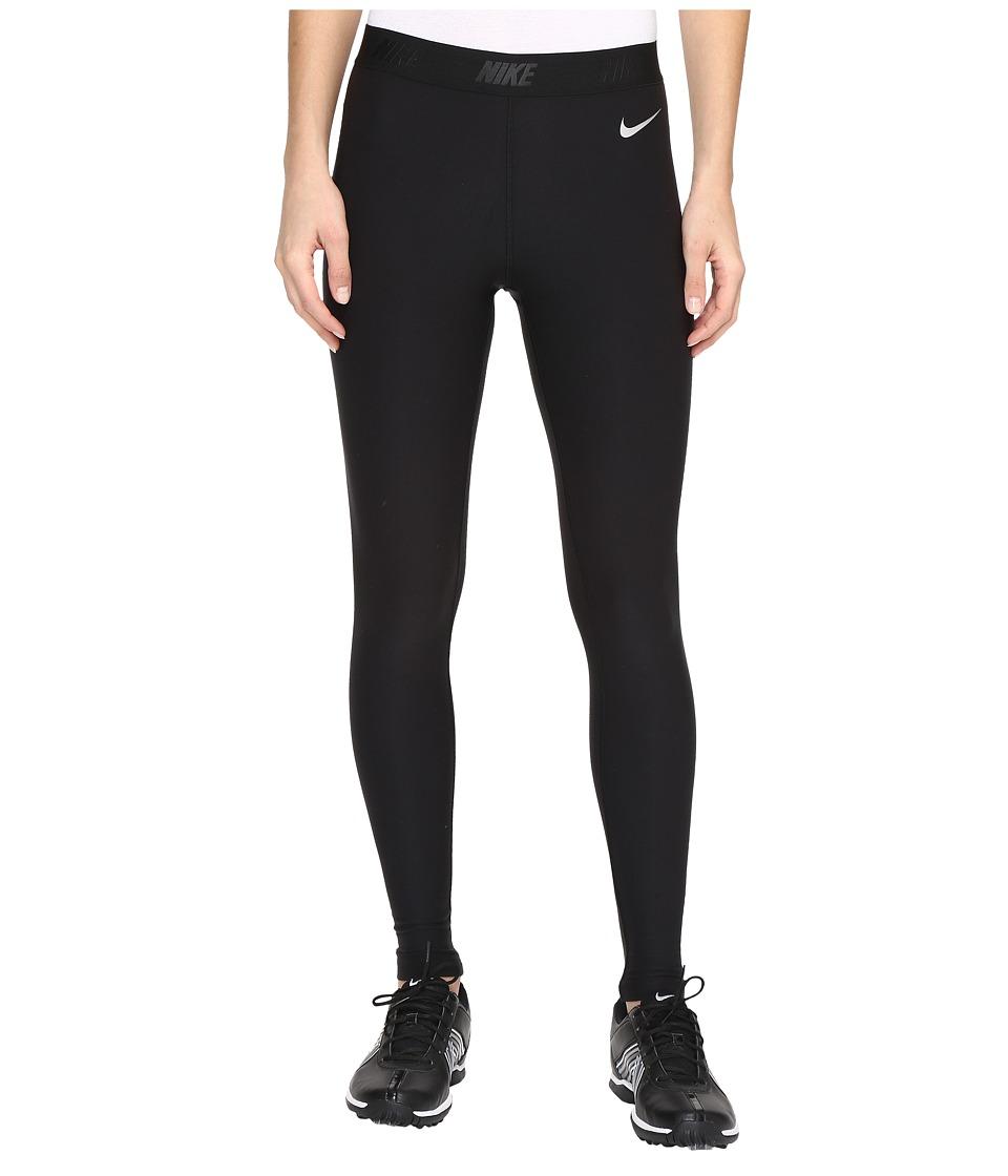 Nike Golf - Tights (Black/Black/Metallic Silver) Women's Casual Pants