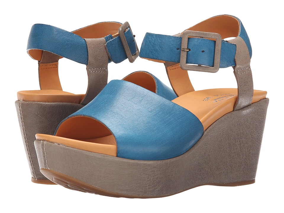 Kork-Ease - Keirn (Grey/Blue) Women's Wedge Shoes