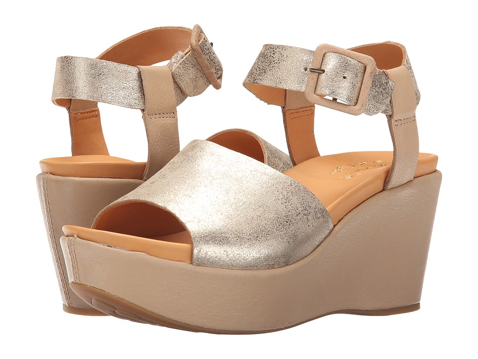 Kork-Ease - Keirn (Off-White/Gold) Women's Wedge Shoes