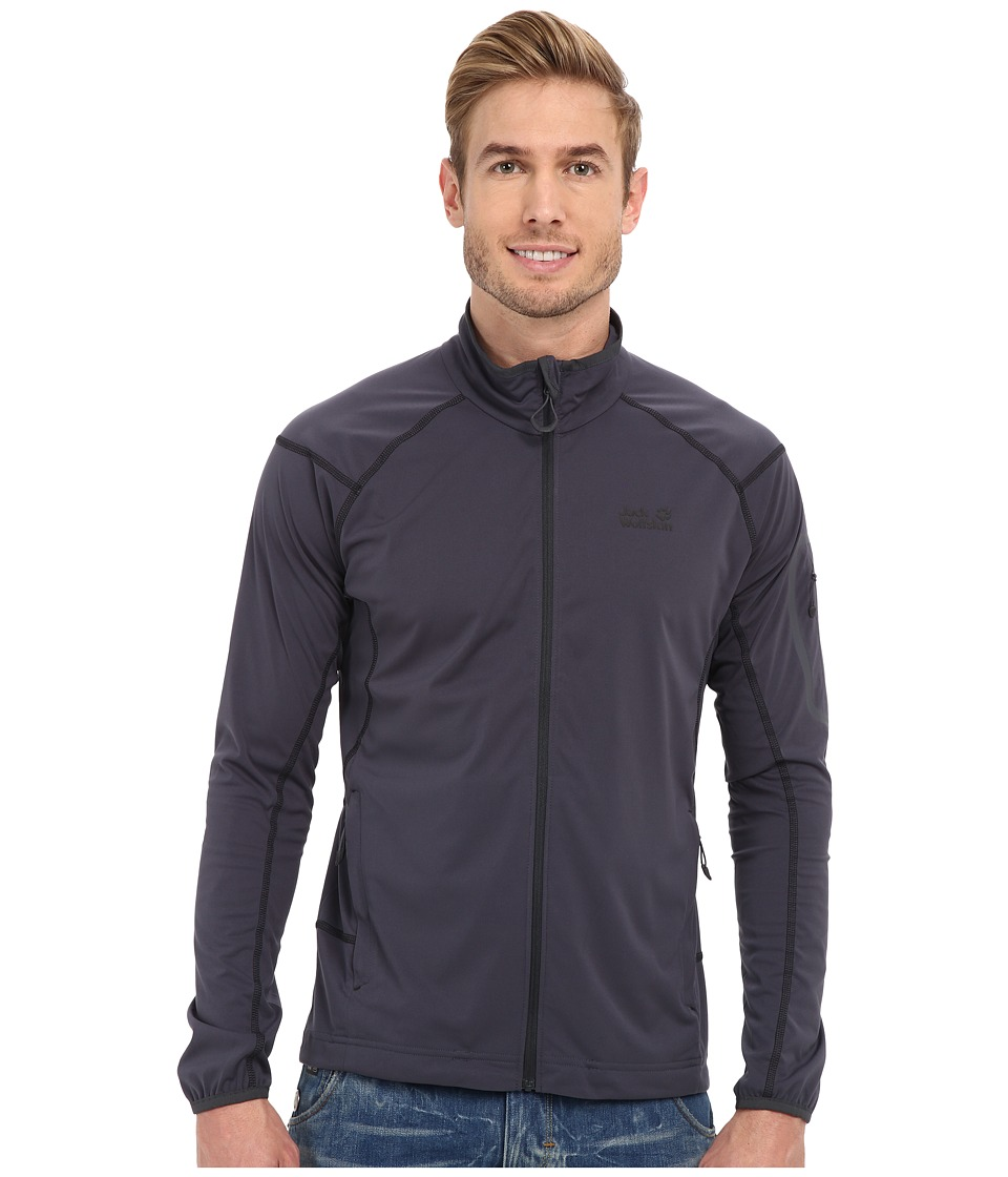Jack Wolfskin - Stormlight Fleece Jacket (Ebony) Men's Coat