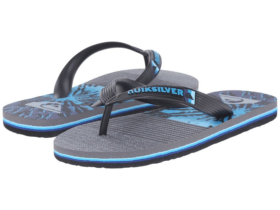 Quiksilver Kids - Molokai Remix (Toddler/Little Kid/Big Kid) (Black/Blue/Grey) Boys Shoes