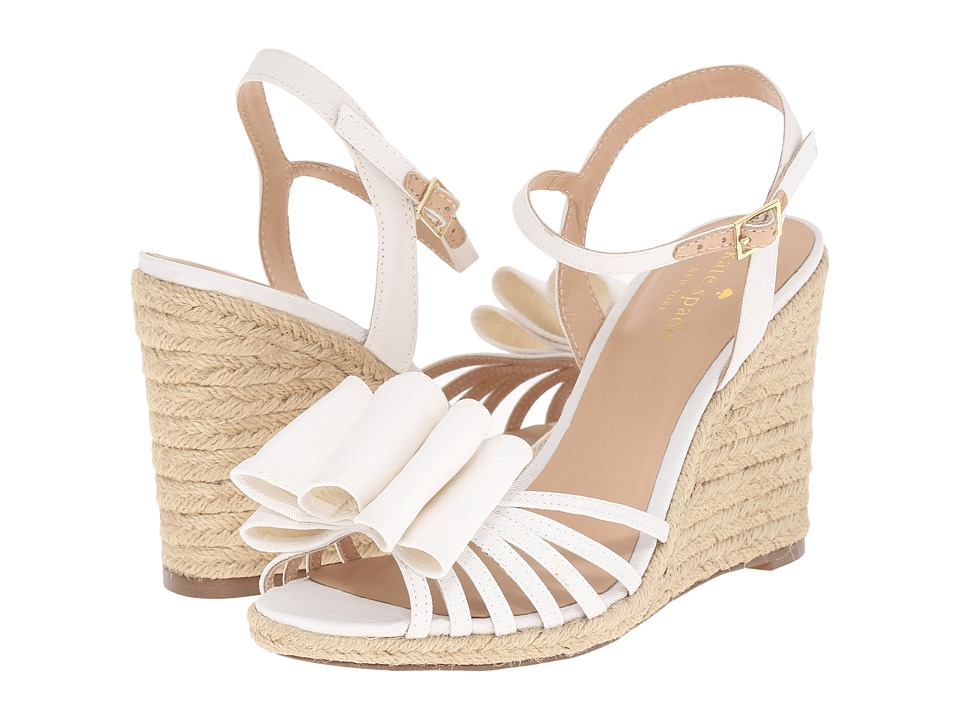 Kate Spade New York - Biana (Ivory Grosgrain) Women's Shoes