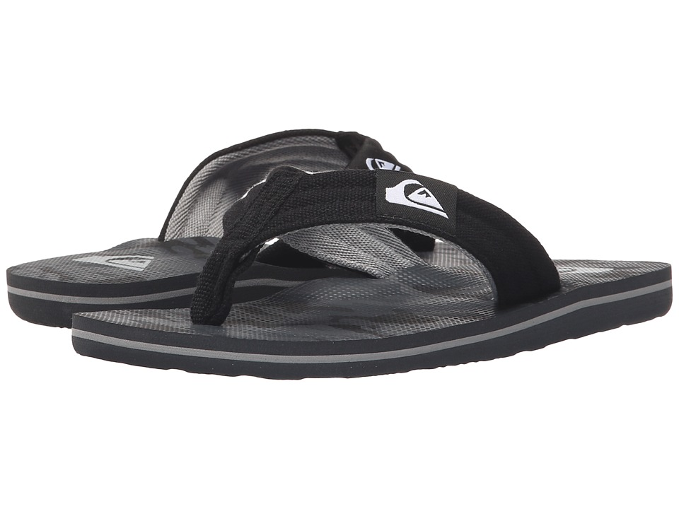 Quiksilver Kids - Molokai Layback (Toddler/Little Kid/Big Kid) (Black/Black/Grey) Boys Shoes