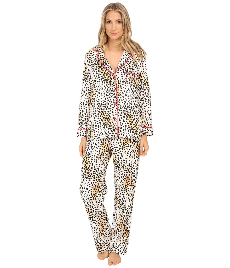 Betsey Johnson - Flannel Pajama (Dreamy Cheetah) Women's Pajama Sets