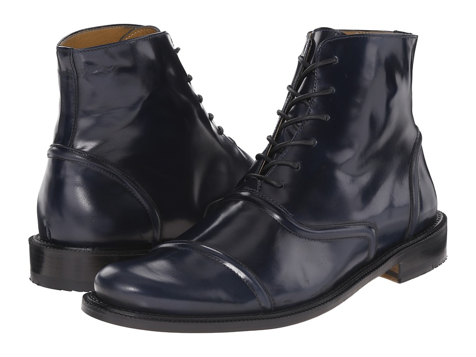 Billy Reid - Leather Crosby Boot (Midnight) Men's Lace-up Boots