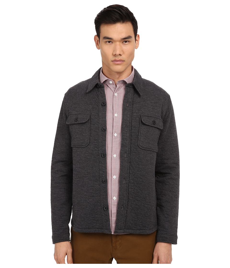 Billy Reid - Darryl Shirt Jacket (Dark Grey) Men's Coat
