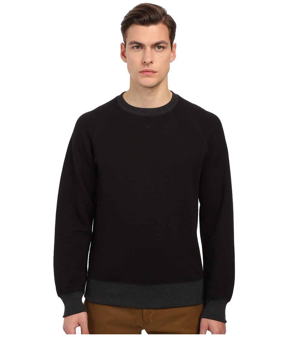 Billy Reid - Quilted Crew (Black) Men's Sweatshirt
